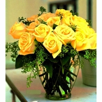 yellow color roses Bouquet