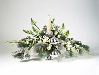 T075-03 Silver and White Arrangement