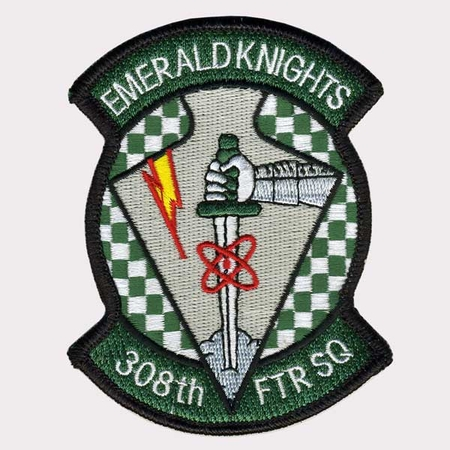 308TH FIGHTER SQUADRON PATCH - 4 INCH