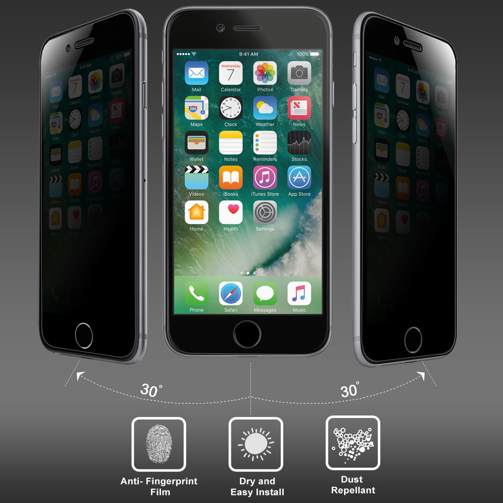 Amzer Kristal Privacy Tempered Glass Hd Screen Protector For Iphone