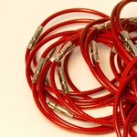"""7"""" Red XL FlyBoys Checklist Ring (Braided Stainless Core)"""