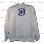 CUSTOM EMBROIDERED HOODED SWEATSHIRT - Out of stock now, please check back later!