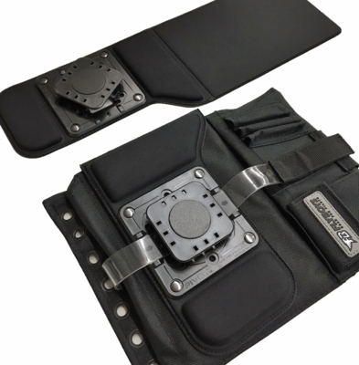 Low Profile Kneeboard Adapter and FB1316 Black Kneeboard Combo