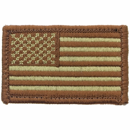 US Flag, Desert Deployment Colors