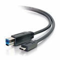 Cables To Go 10ft USB 3.0 (USB 3.1 Gen 1) USB-C to USB-B Cable M/M - Black - 28867