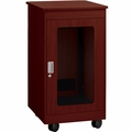 "Chief 12U, 28"" Deep Mahogany F1 Series Rack - YF1F1228H"