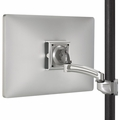 ChiefKontour� K2P Silver Pole Mount Articulating Arm, Single Monitor-K2P110S
