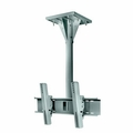 """Ciil 3' Wind Rated Concrete Ceiling Tilt Wall Mount for 32"""" - 65"""" Outdoor Flat Panel Displays - Wind Rated to 90mph  - ECMU-03-C-S (Silver)"""