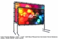 "Elite Screens Yard Master 51"" x 90"" Rear Projection Screen, WraithVeil Fabric - OMS103HR"
