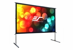 "Elite Screens Yard Master 2 66"" x 118"" Front Projection Screen, CineWhite Fabric - OMS135H2"