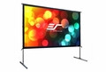 "Elite Screens Yard Master 2 66"" x 118"" Rear Projection Screen, WraithVeil Fabric - OMS135HR2"