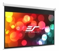 "Elite Screens Manual SRM 50"" x 80"" Front Projection Screen, MaxWhite Fabric - M94NWX-SRM"