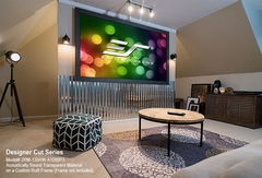 "Elite Screens Designer Cut 135"" Front Projection Screen, CineGrey 3D® Fabric - ZRM-135H-CINEGREY3D"
