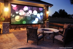 """Elite Screens DIY Wall 3 100"""" Front Projection Screen, MaxWhite® B Fabric - DIYW100H3"""