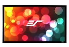 """Elite Screens Sable Frame 85"""" Front Projection Screen, AcousticPro 1080P2 Fabric - ER85WH1W-A1080P2"""
