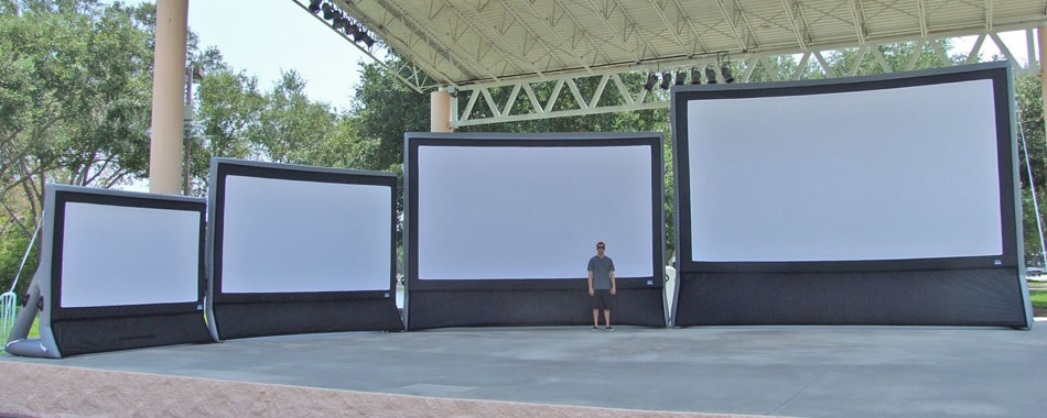 Epic Outdoor Cinema 20 Slimline Freestanding Projection Screen E Slfs