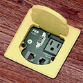 FSR T3-PC1-KEY Table Box Includes: Power and Connections for VGA, Audio and 2 Keystone