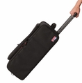 Gator Cases 2U Lightweight rolling rack bag with retractable tow handle, aluminum frame and PE reinforcement - GR-RACKBAG-2UW