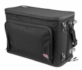Gator Cases 3U Lightweight rolling rack bag with retractable tow handle, aluminum frame and PE reinforcement - GR-RACKBAG-3UW
