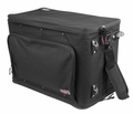 Gator Cases 4U Lightweight rolling rack bag with retractable tow handle, aluminum frame and PE reinforcement - GR-RACKBAG-4UW