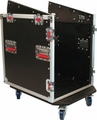 Gator Cases ATA Console Wood Flight Rack Case; 12U Top; 12U Bottom - G-TOUR-GRC12X12