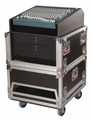 Gator Cases ATA Console Wood Flight Rack Case; 14U Top; 6U Bottom - G-TOUR-GRC-1406