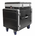 Gator Cases ATA Molded PE Pop-Up Console Rack; 12U Top; 10U Bottom; w/ Casters - GRC-12X10 PU