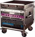 "Gator Cases ATA Molded PE Rack w/ Casters; Fits Under Gator GRC Series; 10U; 21"" Deep - GRC-BASE-10"