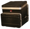 Gator Cases ATA Molded PE Slant Top Console Rack; 10U Top; 6U Bottom - GRC-10X6