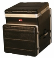 Gator Cases ATA Molded PE Slant Top Console Rack; 10U Top; 8U Bottom - GRC-10X8