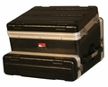 Gator Cases ATA Molded PE Slant Top Console Rack; 8U Top; 2U Bottom - GRC-8X2