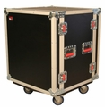 Gator Cases ATA Shock Wood Flight Rack Case; 12U; w/ Casters - G-TOUR SHK12 CA