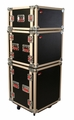 Gator Cases ATA Shock Wood Flight Rack Case; 8U; w/ Casters - G-TOUR SHK8 CAS