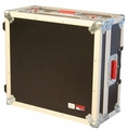 "Gator Cases ATA Wood Flight Case for Mixers; 19"" X 21"" X 6.5""; w/ Wheels - G-TOUR 19X21"