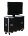"Gator Cases ATA Wood Flight Case w/ Electric LCD Lift & Casters; Fits LCD & Plasma Screens Up to 55"" - G-TOUR ELIFT 55"