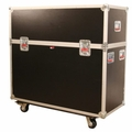 "Gator Cases ATA Wood Flight Case w/ Hydraulic LCD Lift & Casters; Fits LCD & Plasma Screens Up to 55"" - G-TOURLCDLIFT55"
