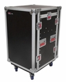 Gator Cases ATA Wood Flight Pop-Up Console Rack Case; 10U Top; 12U Bottom; w/ Casters - G-TOUR 10X12 PU