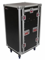 Gator Cases ATA Wood Flight Pop-Up Console Rack Case; 10U Top; 16U Bottom; w/ Casters - G-TOUR 10X16 PU
