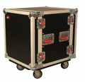 "Gator Cases ATA Wood Flight Rack Case; 12U; 24"" Deep; w/ Casters - G-TOUR12UCA-24D"