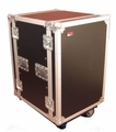 "Gator Cases ATA Wood Flight Rack Case; 16U; 17"" Deep; w/ Casters - G-TOUR 16U CAST"