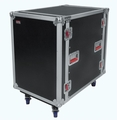 "Gator Cases ATA Wood Flight Rack Case; 16U; 24"" Deep; w/ Casters - G-TOUR16UCA-24D"