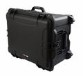 "Gator Cases Black injection molded case with pullout handle and inline wheels. Interior dims 22"" x 17"" x 12.9"". NO FOAM - GU-2217-13-WPNF"