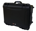 "Gator Cases Black injection molded case with pullout handle, inline wheels, and Interior dims 20.5"" x 15.3"" x 10.1"". NO FOAM - GU-2015-10-WPNF"