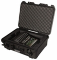 Gator Cases Black Waterproof Injection Molded Case, with Custom Foam Insert for Mackie DL1608 Mixing Console - GMIX-DL1608-WP