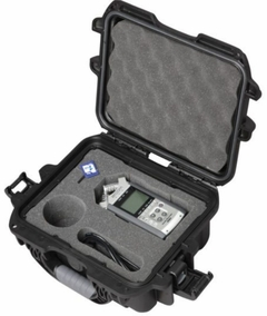 Gator Cases Black Waterproof Injection Molded Case with Custom Foam Insert for Zoom H4N Handheld Recorder and Accessories - GU-ZOOMH4N-WP