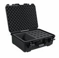 Gator Cases Black waterproof injection molded case with foam insert to accommodate 16 handheld mics and accessories - GM-16-MIC-WP