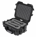 Gator Cases Black waterproof injection molded case with foam insert to accommodate 6 handheld mics - GM-06-MIC-WP