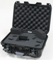 "Gator Cases Black waterproof injection molded case with interior dimensions of 13.8"" x 9.3"" x 6.2"". DICED FOAM - GU-1309-06-WPDF"