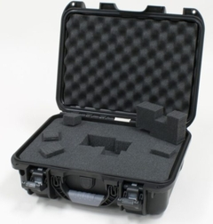 """Gator Cases Black waterproof injection molded case with interior dimensions of 15"""" x 10.5"""" x 6.2"""". DICED FOAM - GU-1510-06-WPDF"""