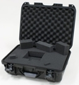 "Gator Cases Black waterproof injection molded case with interior dimensions of 17"" x 11.8"" x 6.4"". DICED FOAM - GU-1711-06-WPDF"